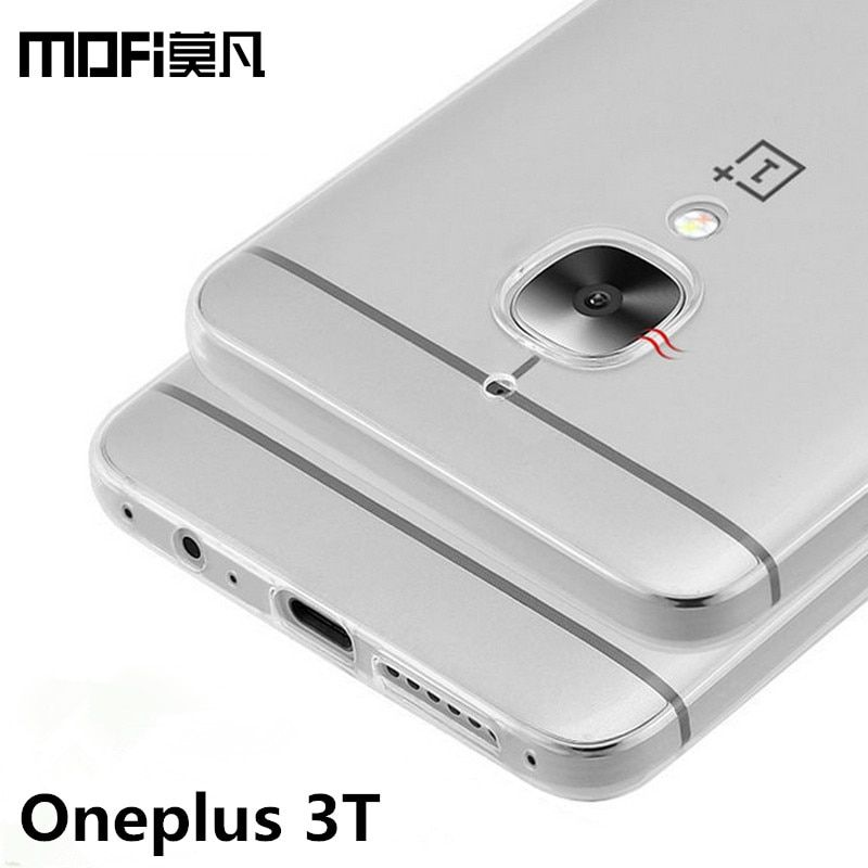 oneplus 3t 3 t case MOFi transparent cover silicon case one plus 3t case TPU soft back coque oneplus3 cover 5.5 inch phone