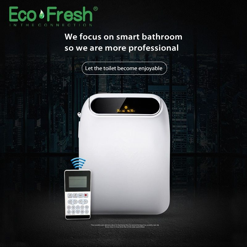 Ecofresh Smart toilet seat toilet seat bidet Washlet Electric Bidet cover heat seat led light Intelligent toilet cover auto