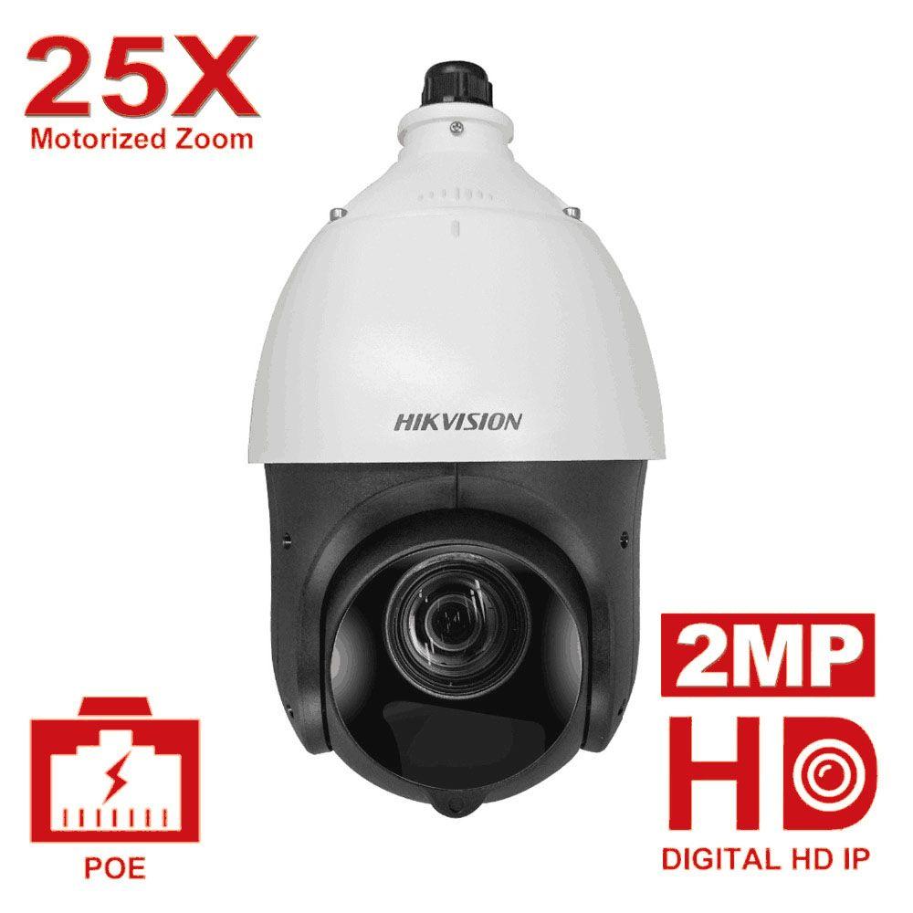 Original Hikvision PTZ IP Kamera DS-2DE4225IW-DE 2 Megapixel Motorisierte 25X Zoom Speed Dome CCTV Kamera IR 100 m Objektiv 4,8 -120mm