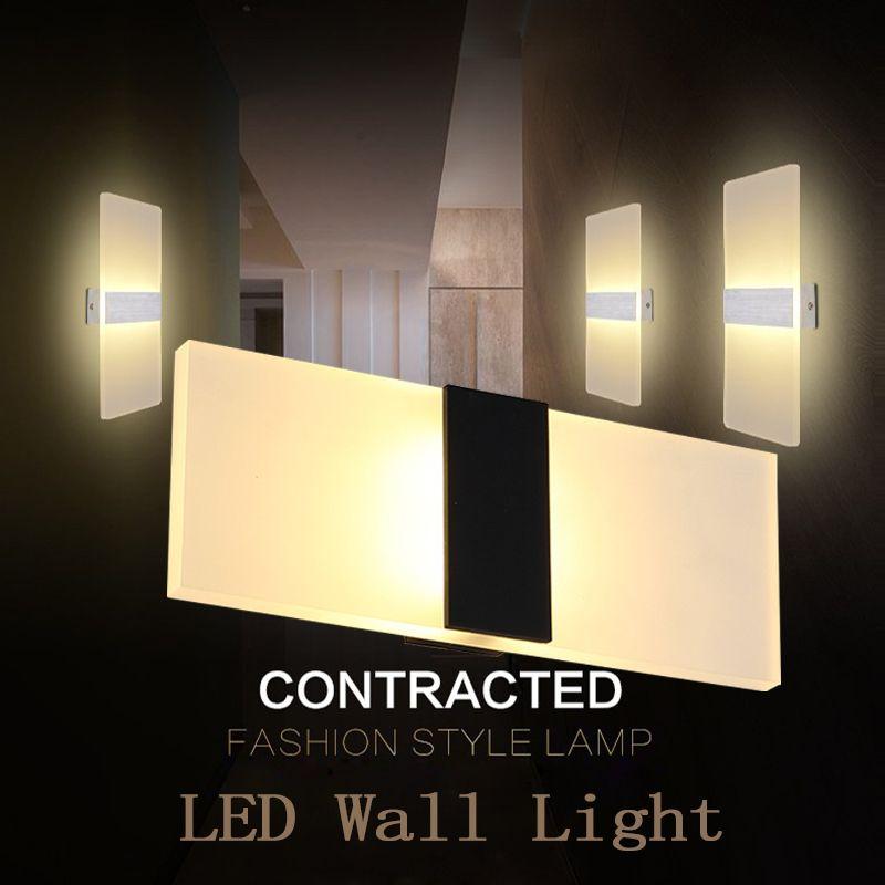LAIMAIK Modern Led Wall Lamp AC110V/120V Sconce LED Acrylic Wall Lamp Wall Mounted 3W 6W 9W 12W Wandlamp Bathroom Led Wall Lamp