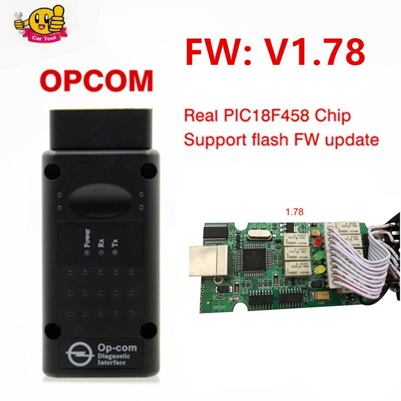 OP COM 1.64 1.65 1.70 V1.78 with PIC18F458 Chip Diagnostic Tool OpCom Can Bus Diagnostic Tool for opel OBD2 OBDII Scanner Tool