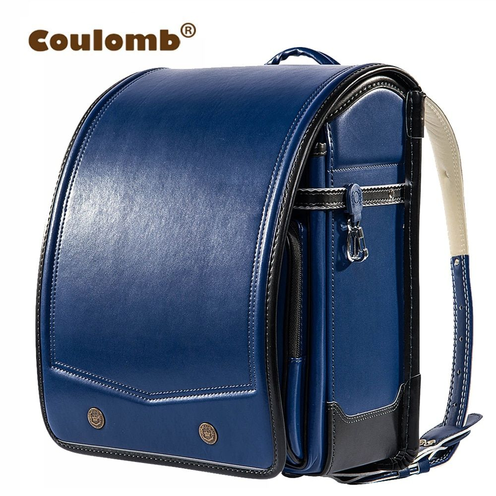 Coulomb Randoseru Kid PU Solid High Quality Brand Children's Bag Backpack For The Boy Children School Bag Japan Backpack 2018