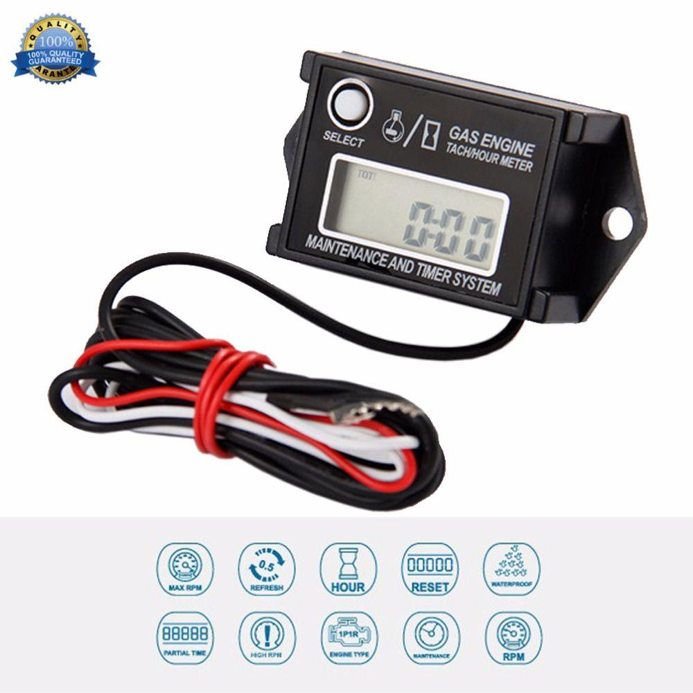 Free Shipping!Digital Waterproof Reset Maintenance Minder Tachometer Hour Meter
