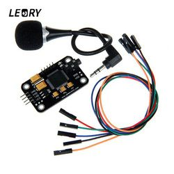 LEORY Voice Recognition Module With Microphone Dupont Jumper Wire Speech Recognition Voice Control Board For Arduino Compatible