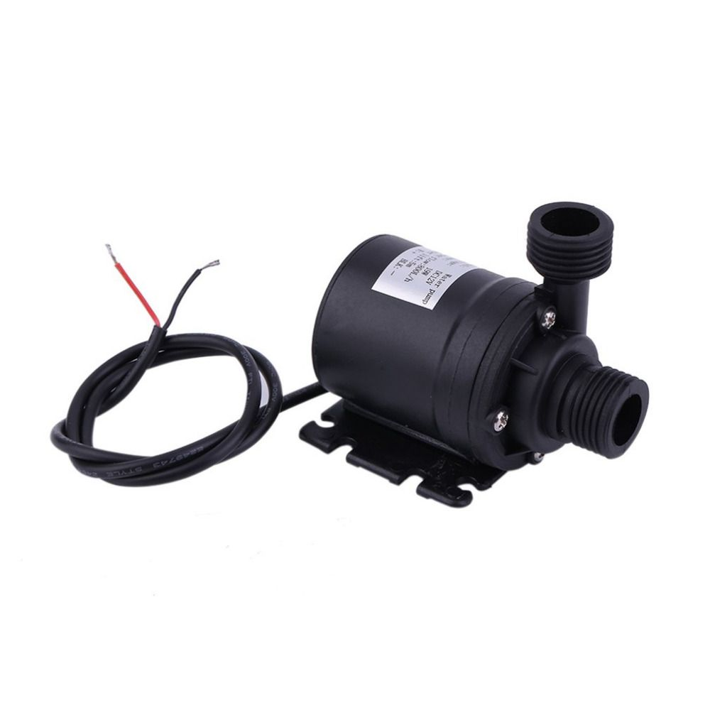 Professional Ultra Quiet Mini DC 12V Lift 5M 800L/H Brushless Motor Submersible Water Pump Multifunction Threaded Water Pump New