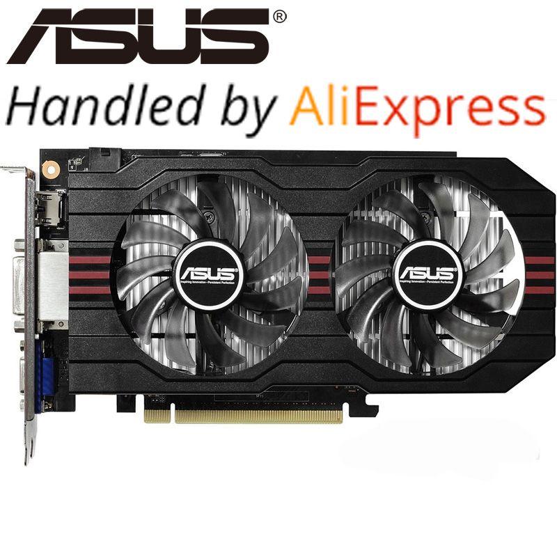 ASUS Grafikkarte Original GTX 750Ti 2 GB 128Bit GDDR5 Grafikkarten für nVIDIA Geforce GTX750Ti Hdmi Dvi Verwendet VGA Karten Auf Verkauf