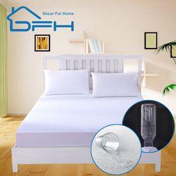 160X200 махровое покрытие матраса 100% водонепроницаемый лист Матрас протектор матрас кровать матрас приспособленный анти пунез де освещенный ...