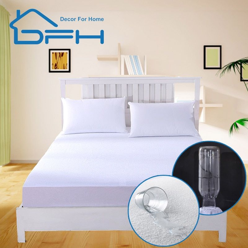160X200 Cotton Terry Matress <font><b>Cover</b></font> 100% Waterproof Mattress Protector Bed Bug Proof Dust Mite Mattress Pad <font><b>Cover</b></font> For Mattress