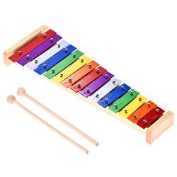 HOT SALE Colorful Gambang Glockenspiel Perkusi Alat Musik Pendidikan Toy 15 Nada Kayu & Aluminium