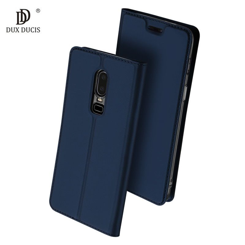 DUX DUCIS Wallet Case For Oneplus 6 1+6 Case 6.28 inch Leather Skin Book Cover For One Plus 6 Six A6000 Flip Holster Cover