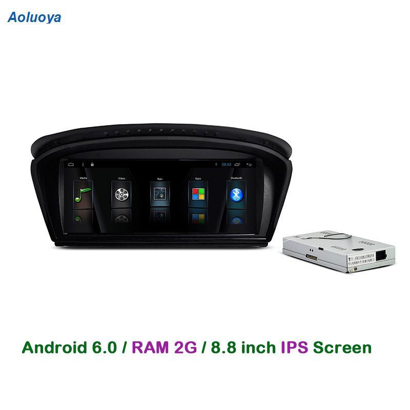 Aoluoya Quad Core RAM 2G Android 6.0 Car Radio DVD GPS Navigation For BMW 5 Series E60 E61 E63 E64 2003-2010 Audio multimedia 3G
