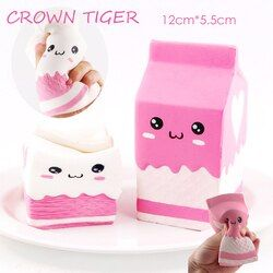hot jumbo kawaii Squishy milk box bag/bottle/can Squeeze fun Soft Slow Rising Cute Antistress toy stress reliever Squishes food