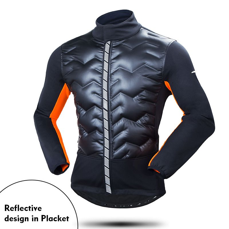 Winter Bicycle Jacket Windproof Ourdoor Sport Running Climbing Fishing Camping Down Clothes Men's Cycling Bike Clothing Coat
