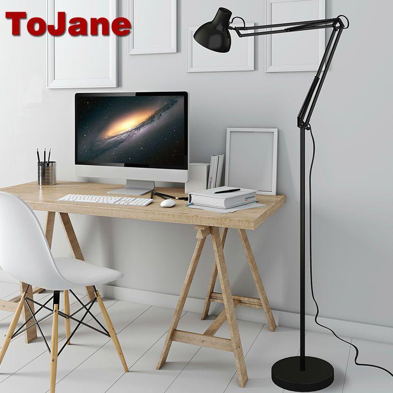 Tojane современный стенд напольный светильник tg610-s простой Торшеры для Гостиная складной торшер lambader stehlampe