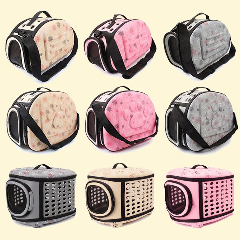 <font><b>Foldable</b></font> EVA Pet Carrier Puppy Dog Cat Outdoor Travel Shoulder Bag for Small Dog Pets Soft Dog Kennel Pet Carrier Bag