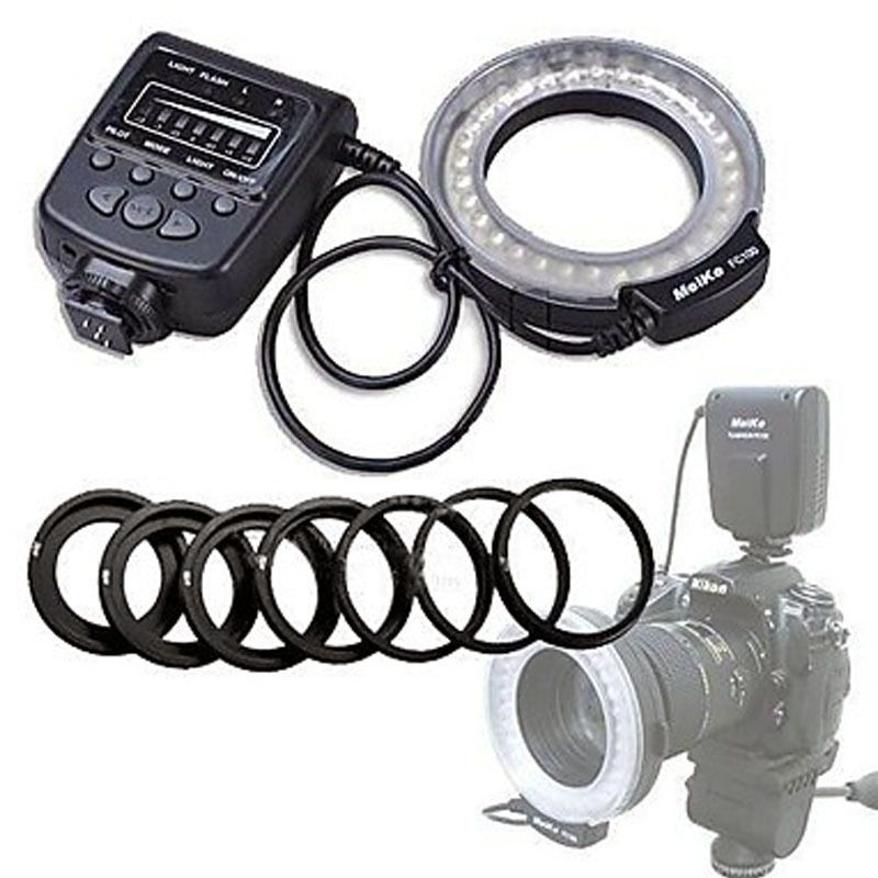Haute Qualité Meike LED Macro Ring Flash Light FC-100 Pour Canon Nikon D7100 D7000 D5200 D5100 D5000 D3200 D310
