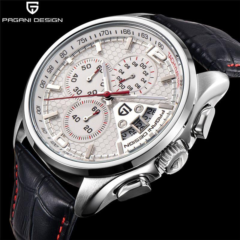 Männer Quarz Uhren PAGANI DESIGN Luxus Marken Mode Timed Bewegung Militär Uhren Leder Quarz Uhren relogio masculino