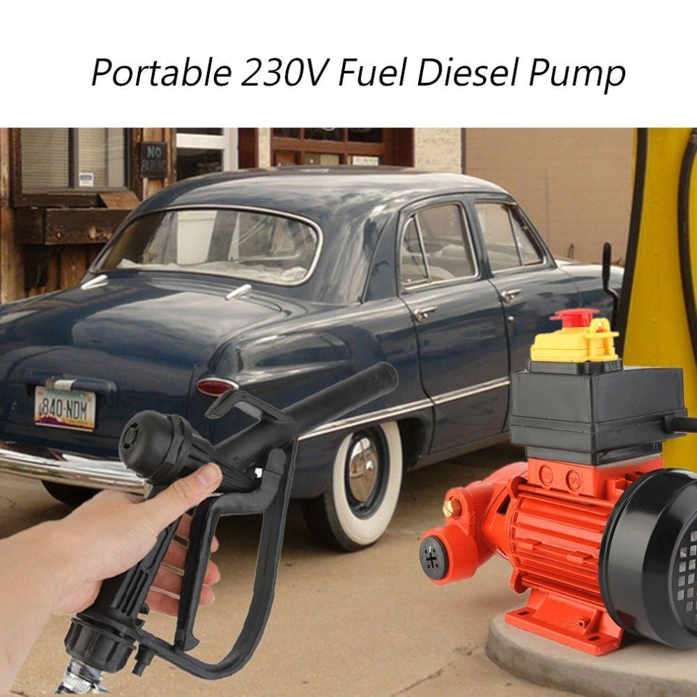 Tragbare 230 v Kraftstoff Diesel Pumpe Transfer Maschine Elektrische selbstansaugende Diesel Pumpe Mit Montage Halterung Nicht Mobile Typ