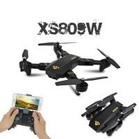 RC Dron Visuo XS809W XS809HW Mini Foldable Selfie Drone with Wifi FPV 0.3MP or 2MP Camera Altitude Hold Quadcopter Vs JJRC H47