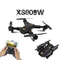 Visuo XS809W XS809HW Quadcopter Mini Selfie Drone dengan Wifi FPV 0.3MP/2MP Kamera Ketinggian Terus RC Drone Vs jjrc H47 E58