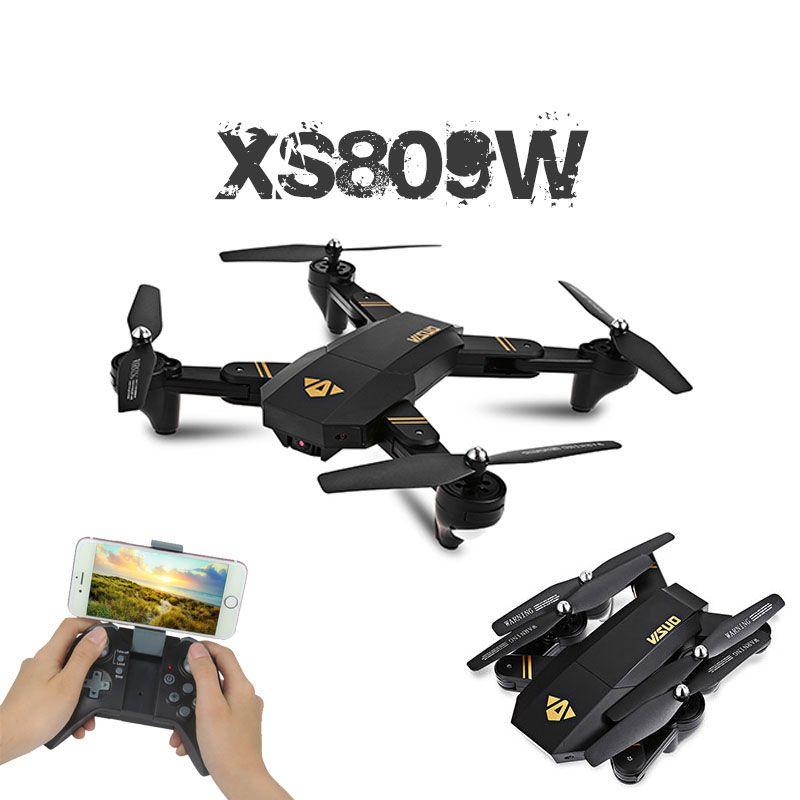 Visuo XS809W XS809HW quadrirotor Mini Drone pliable Selfie avec Wifi FPV 0.3MP/2MP caméra maintien d'altitude RC Dron Vs JJRC H47 E58