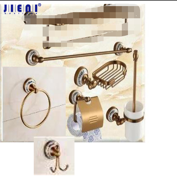 Antique Brasss Bathroom Shelf Soap Dish & Toilet Holder Tooth Brush Holder Bath Hardware Sets Accessories
