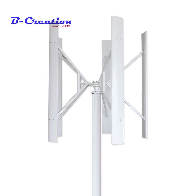 1.5m started up high efficient maglev wind generator 500w 12/24v/48v vertical axis wind turbine with 800w wind solar controller