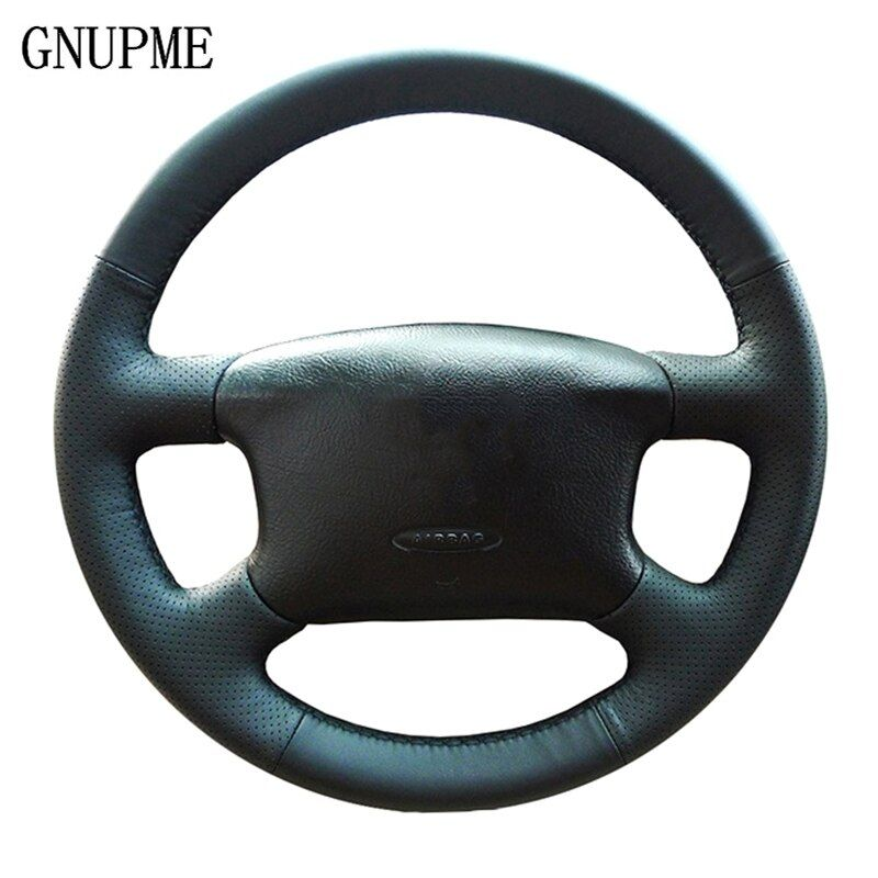 GNUPME bricolage couvre-volant Auto cuir noir cousu main pour Volkswagen Skoda Octavia 1999-2005 Passat B5 VW Golf 4