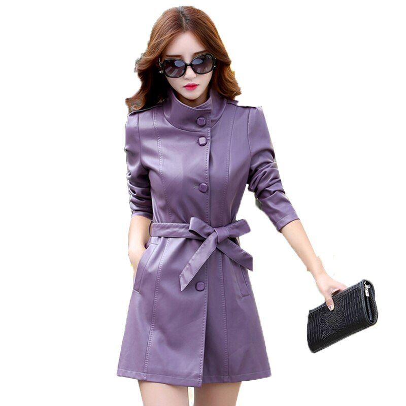 Top Genuine Sheep Skin Antumn Spring Leather Jacket Women Slim Waist Plus 5XL 100% Real Leather Coat Female Stand Collar A0241