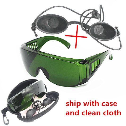 OPT/E lumière/IPL/Photon Beauté Instrument noir poupée de sécurité lunettes de protection laser rouge lunettes 340-1250nm large absorption