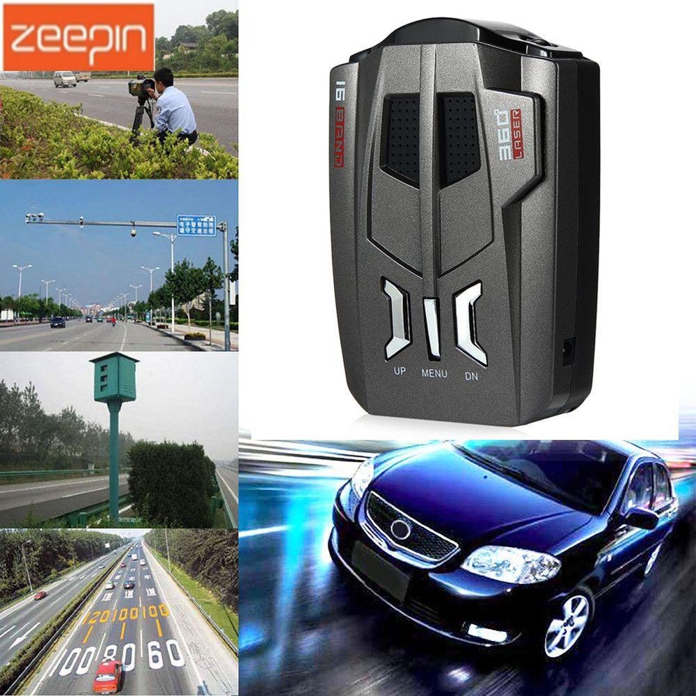 V9 voiture camionneur vitesse 360 degrés véhicule Radar détecteur alerte vocale avertissement 16 bande Auto LED affichage version anglais/russe