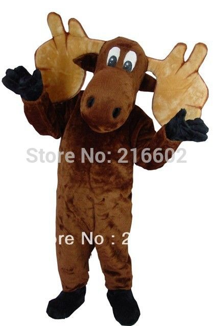 High quality Moose Mascot Adult Costume Mascot costumes sale free shipping