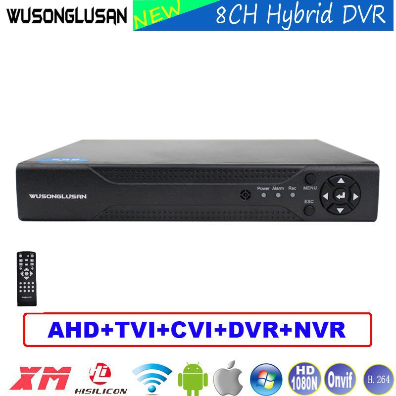 8 Channel Digital Video Recorder 8CH AHD DVR 1080N 960P 720P 960H 6-in-1 NVR TVI CVI DVR P2P For CCTV Home Surveillance Cameras