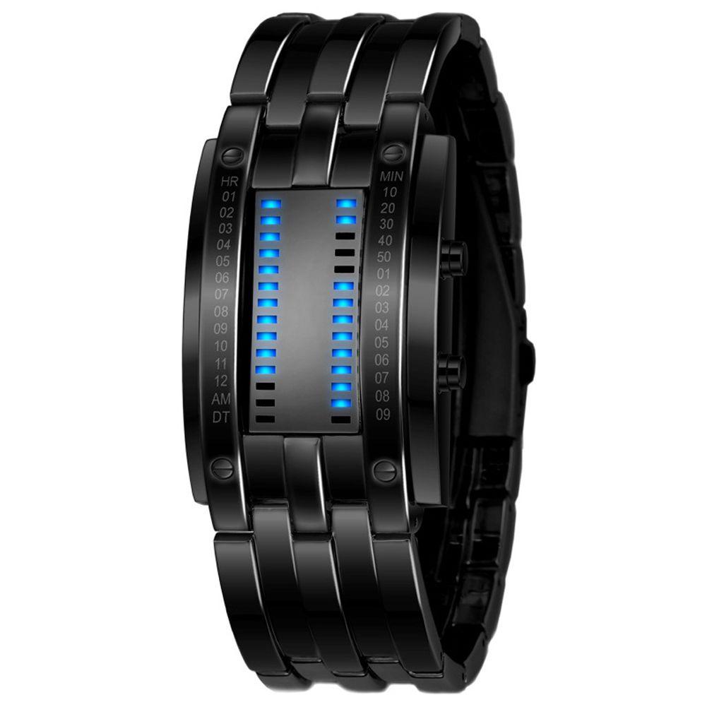 Mode créatif amoureux Couple montre femmes en acier inoxydable LED lumineuse électronique étanche Sport montre Relogio cadeau