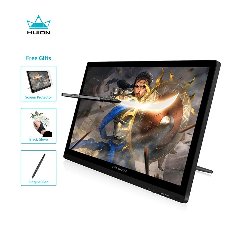 HUIION GT-191 IPS Pen Display Monitor 8192 Levels Art HD Graphics Drawing Pen Tablet Monitor with Gifts