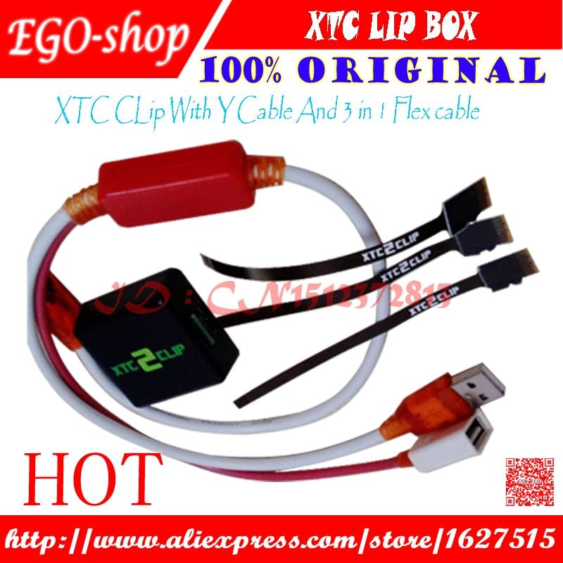 gsmjustoncct The Newest version 100% Original Xtc 2 Clip Box with Y with Flex Cable 3 In 1