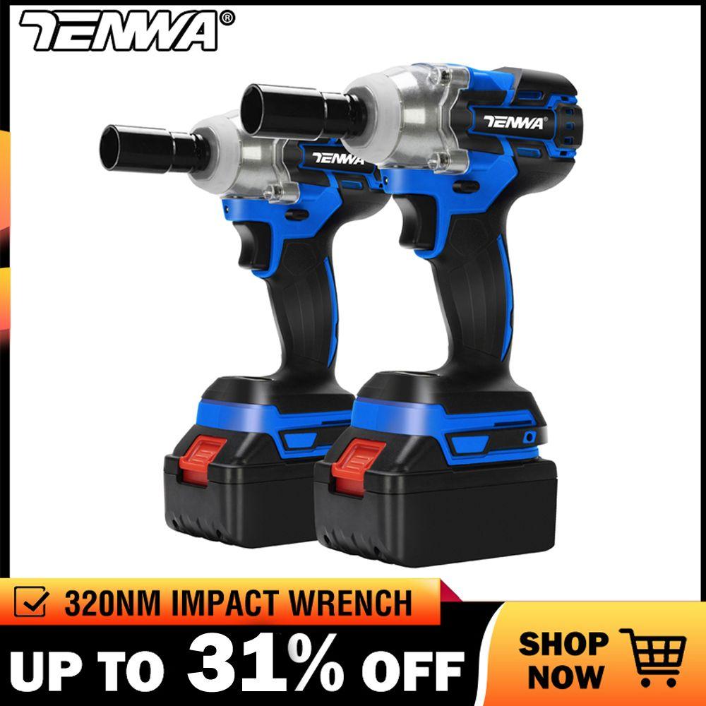 TENWA clé électrique sans brosse clé à chocs clé à douille 21V 4000mAh Li batterie perceuse à main Installation outils électriques