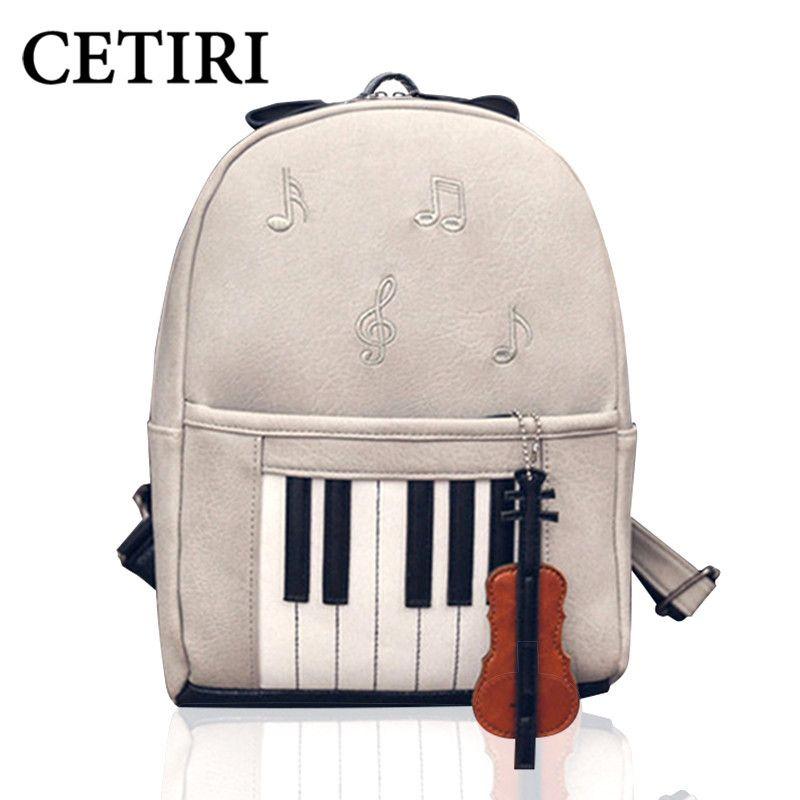 CETIRI Musique Sacs À Dos Piano Musical Violon Impression Sac À Dos Pour Adolescent Filles Bookbag Étudiants École center de musique note sac