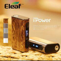 100% Original Eleaf iPower 80W MOD with 5000mah Built-in Battery Temperature Control Box Mod new firmware Smart mode Vaporizer