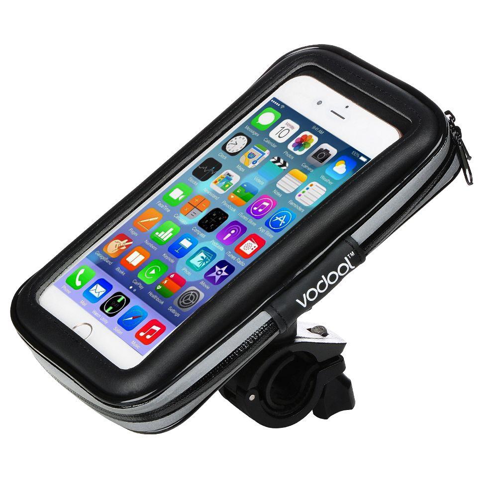 Alloet Universel Rotation 360 Degrés Vélo Vélo Imperméable Tactile Sac Cas Téléphone Titulaire Sac anti-Choc pour Samsung S6 S7