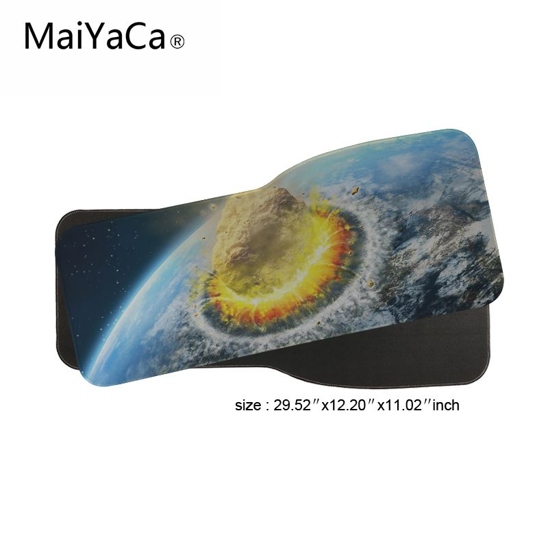 MaiYaCa Hot Game Mouse Pad locking edge PC Computer Laptop Play Mat Mousepad SpeedControl Version For Sunrise Over Earth