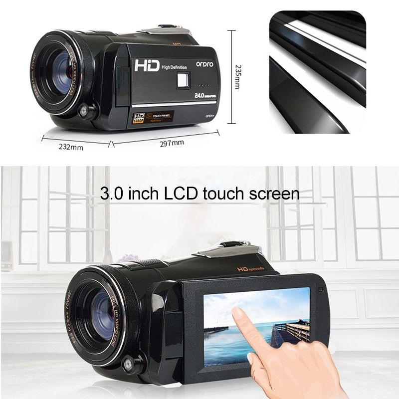 1080 P Full HD Цифровая Wi-Fi видеокамеры DV видео DSLR Камера с Ночное видение инфракрасный 3 дюймов ЖК-дисплей Сенсорный экран Дистанционное управлен...