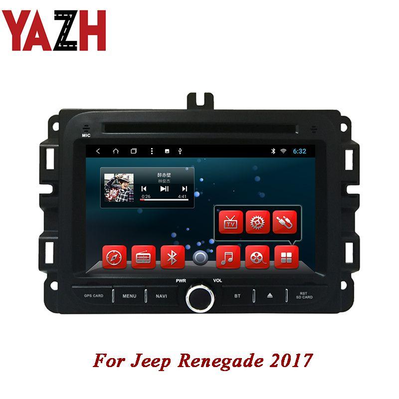 YAZH Android 1 Din Auto Dvd Player für Jeep Renegade 2017 PIP Bluetooth Radio Navigation 1080*600 IPS TFT LCD display steuergerät