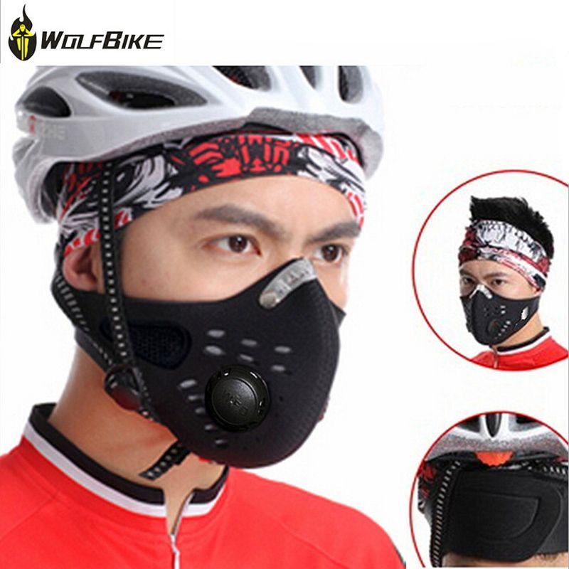 Wolfbike Antiverschmutzung Sporttraining Maske Schwarz Mund Maske Sport Gesicht maske Radfahren Gesichtsschutz Half Face Air Mtb Maske Lauf ski