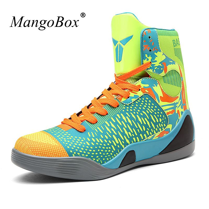 Men Basketball Shoes 2016 High Top Mens Sneakers Basketball Green/Black Mens Sport Basketball New Cool Outdoor Basketball Shoes