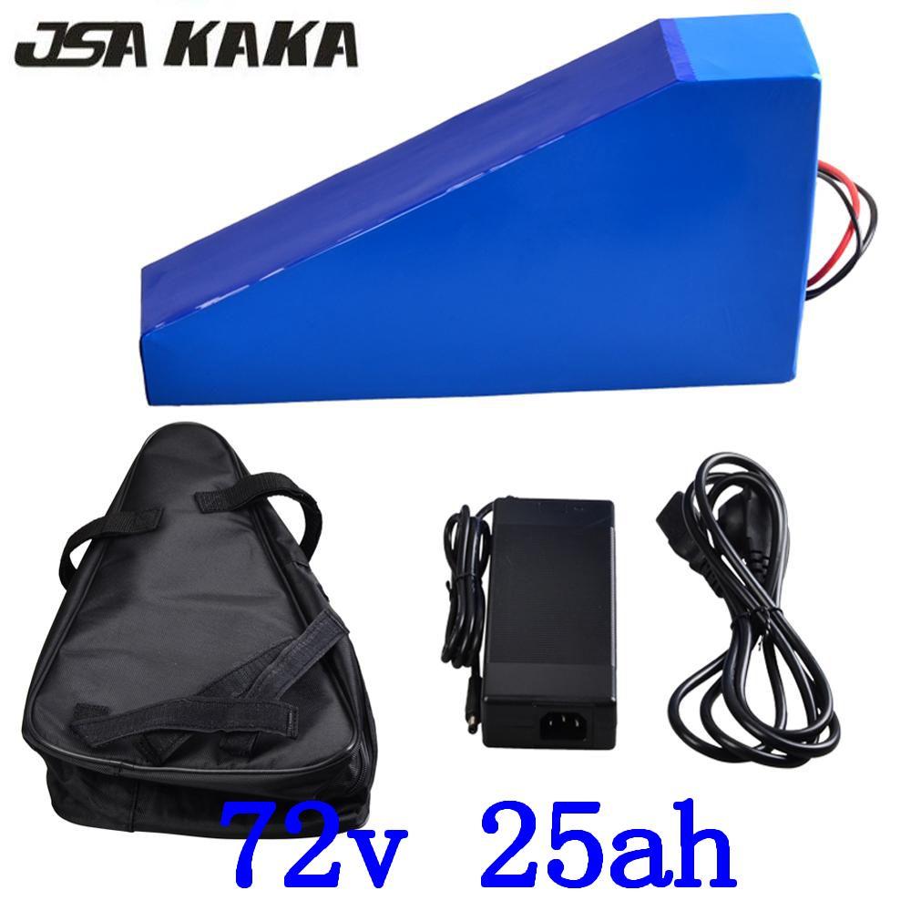 72 v 2000 w 3000 w lithium-batterie 72 v 25ah ebike batterie 72 v 25ah elektrische fahrrad batterie verwenden sanyo zellen mit 84 V ladegerät