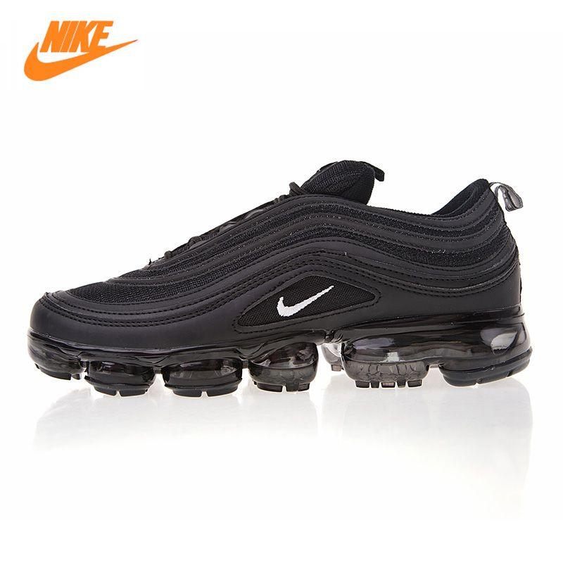 Nike Air VaporMax 97 Men's Running Shoes, Black/Dark Grey, Breathable Lightweight Shock Absorbing AO4542 001 AJ7291 002