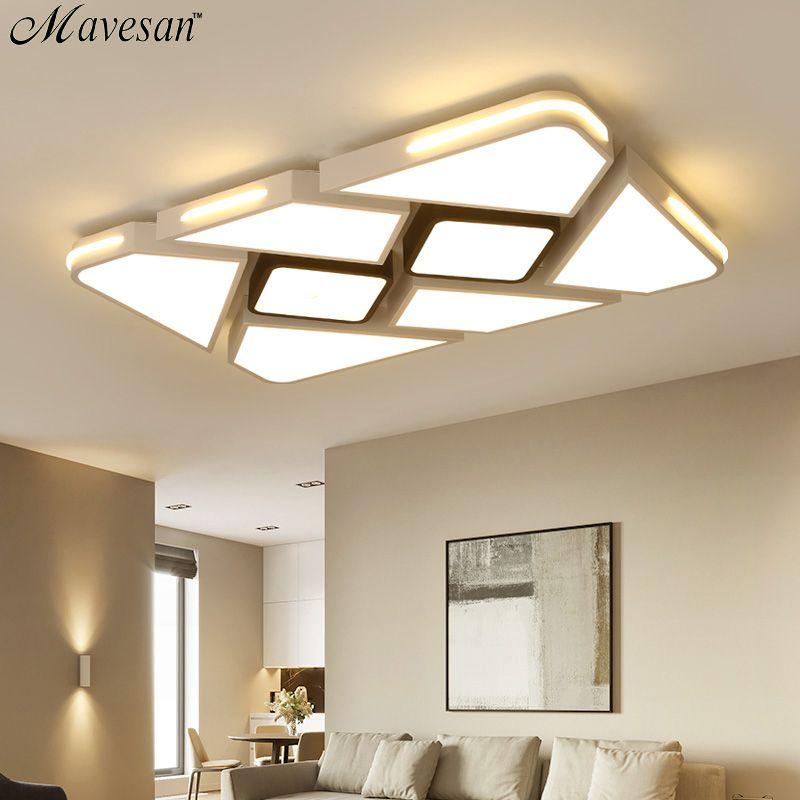 Moderne Weiß/Schwarz Oberfläche montiert Decke Lichter für Schlafzimmer wohnzimmer Moderne LED dimmen beleuchtung Decke Lampe Neue