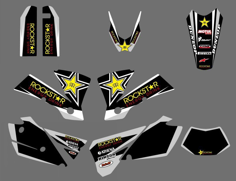 TEAM GRAPHICS & BACKGROUNDS DECALS FOR KTM  EXC 125/200/250/300/400/450/525 2004