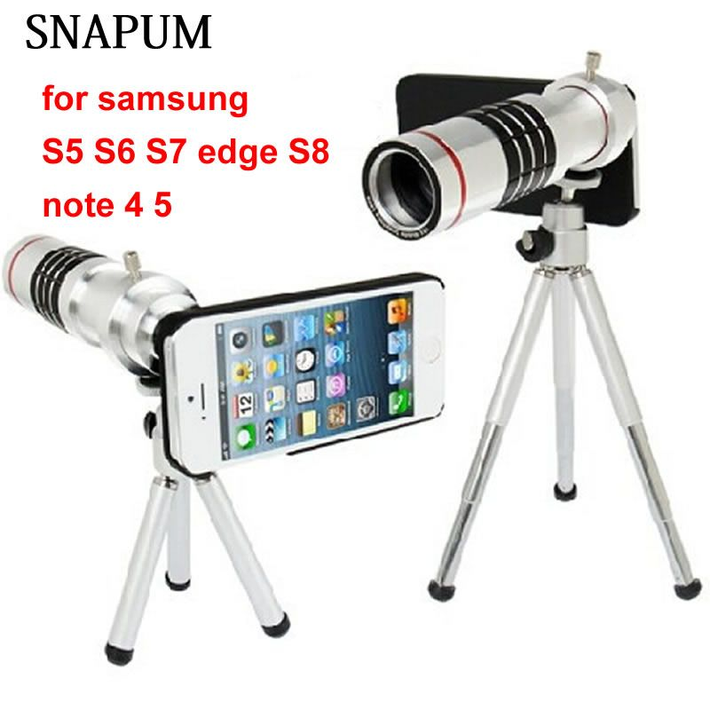 SNAPUM Cellphone mobile phone 18x Camera Zoom optical Telescope telephoto Lens For Samsung note 4 5 galaxy S4 S5 S7 edge S8